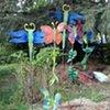 Steel garden objects
