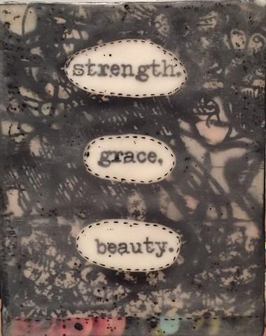 Talking Block No.5 (strength, grace, beauty)
