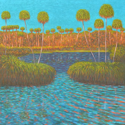 Sunset Overture painted by Florida Artist Gary Borse is available at Plum Contemporary Art Gallery St Augustine FL