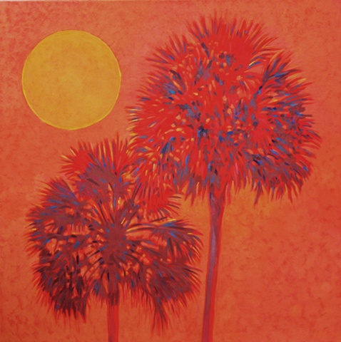 Hot and Hazy acrylic painting painted by Florida Artist Gary Borse