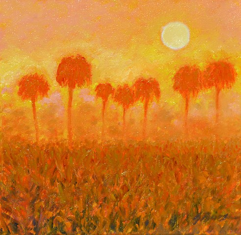 Morning Fog painted by Florida artist Gary Borse