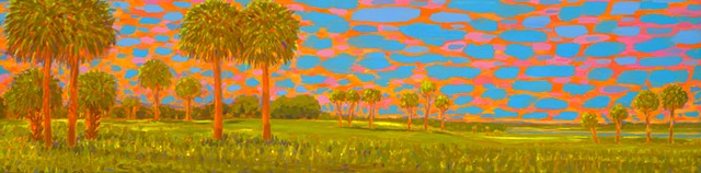 Cathedral by Florida Artist Gary Borse is one of the five billboards for Art Pop Deland 2016 Fall Festival, Deland FL