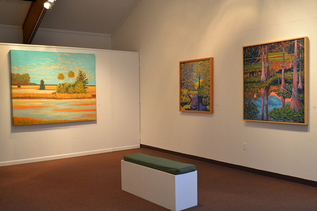 Gary Borse paintings at the Ormond Memorial Art Museum n Ormond Beach Florida