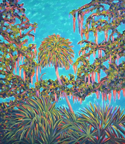 Tailights at Twilight painting by Florida Artist Gary Borse