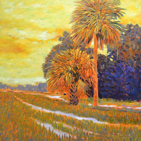Scorcher painted by Florida Artist Gary Borse is available at Lombard Contemporary Art in the Hyatt Grand Cypress Hotel, Orlando, FL