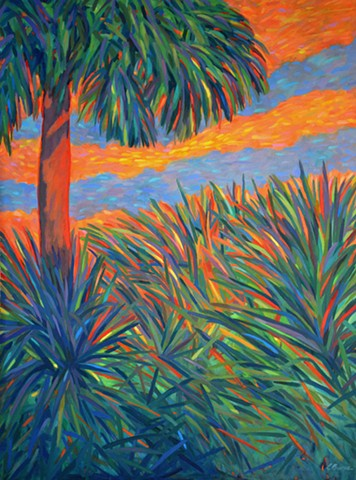 Rearview Mirror Painted by Florida Artist Gary Borse