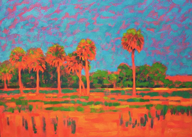 Sunrise at Orange Creek painted by Florida Artist Gary Borse