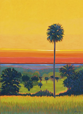 "Orange Lake Sunrise at the Overlook , ""Top of the Morning"" painted by Florida Artist Gary Borse"