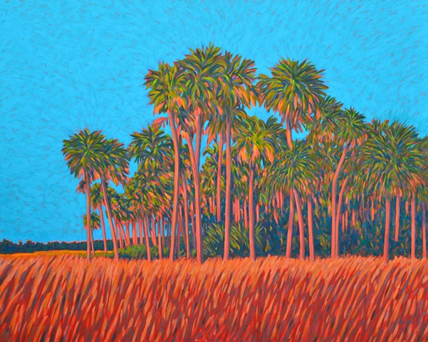 Florida artist Gary Borse abstract acrylic painting Sunblast available at Hollingsworth Gallery Palm Coast Florida