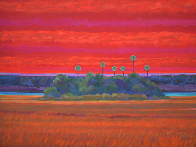 Open Heart Sunset acrylic painting by Florida Artist Gary Borse
