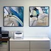 "Installation View of ""Nature Abstraction 1"" and ""Nature Abstraction 2"""
