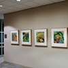 "Installation View of ""Bow"" ""Twist"" ""Landscape"" ""Twirl"" and ""Splash"""