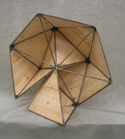 A Tetrahedron exploring its space (well behaved Wood)