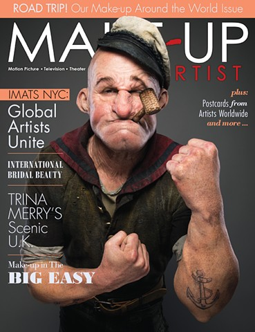 Shot this cover page for MakeUp Artist magazine at IMATS NYC 2015 for legend MUAs Neil Gorton (Dr. Who) and Josh Turi (Marvel Netflix, SNL)