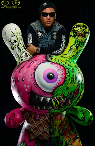 Lamour Supreme with his Kid Robot Dunny collaboration with Buff Monster