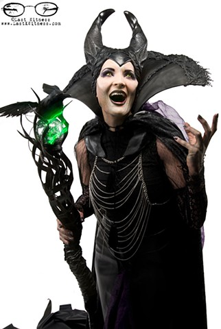 Maleficent by MUA Chloe Sens from syfy's FaceOff (shot at IMATS NYC 2014)