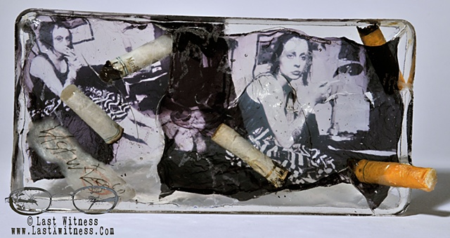 photo emulsion suspended in resin used cigarette butts