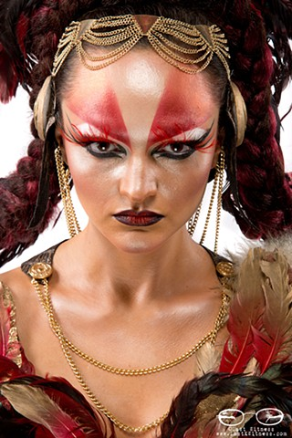 MUA Lacey Elliot winner of second place with this make up at IMATS beauty battle of the brushes competition (shot at IMATS NYC 2014)