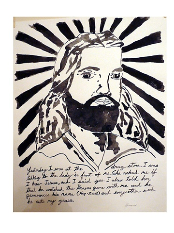 Jesus  Hey Zeus watercolor narrative