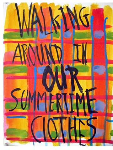 watercolor summertime clothes