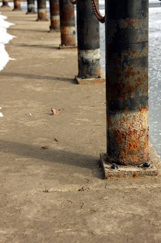 rusted posts