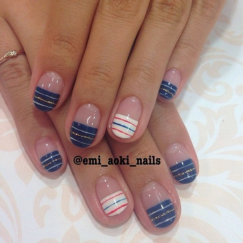 Blue and White Marine