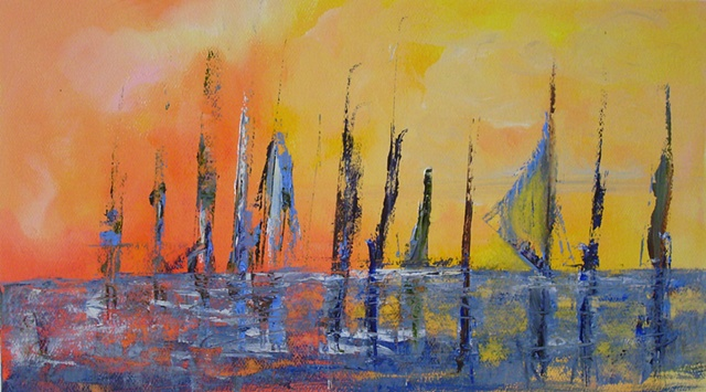 Sails at Sunset Sold Prints available