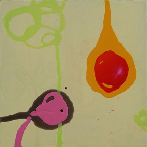 """2009 acrylic on panel  15x15"""""""