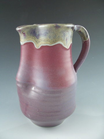 Pitcher in Plum with Rutile rim