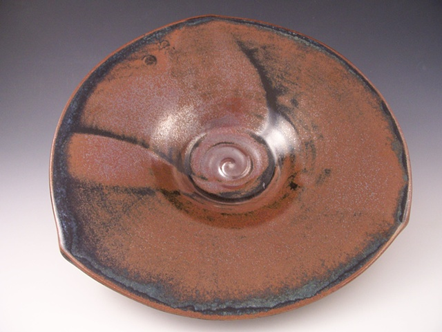 Triangle Plate with Temmoku Glaze