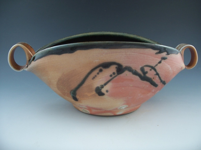 Oval Bowl with Loop Handles