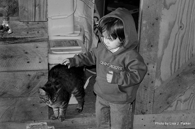Baby and Barncat - Farmville, VA