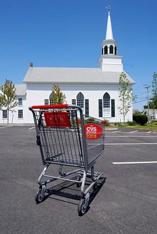 Shopping Cart & Church - Upstate New York