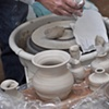 Newly thrown pots