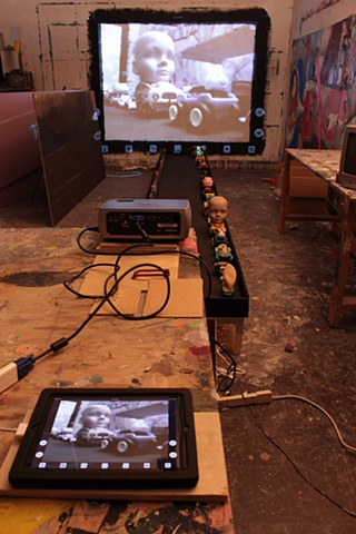 Transformers installation in making (studio view)