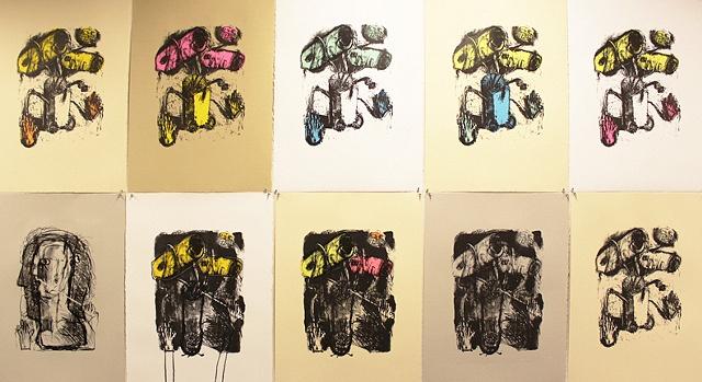 Bouquet (installation of nine)