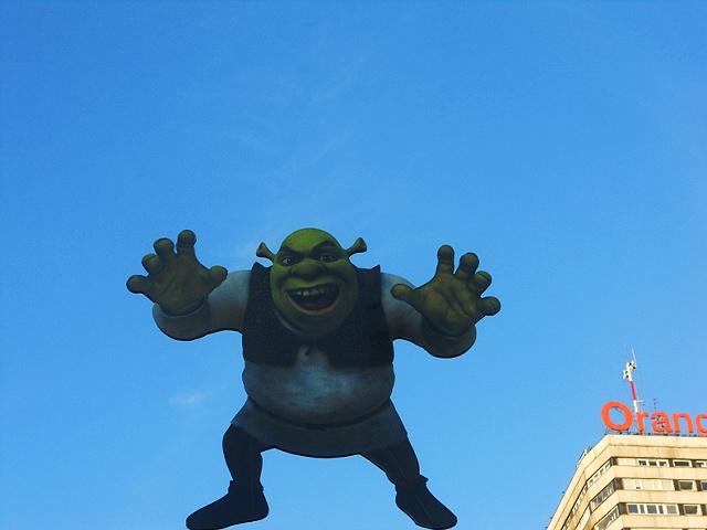 Shrek in Warsaw