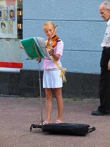 Street musician (Sopot)