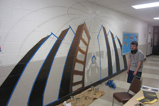 "Student Mural ""in progress"" photo"