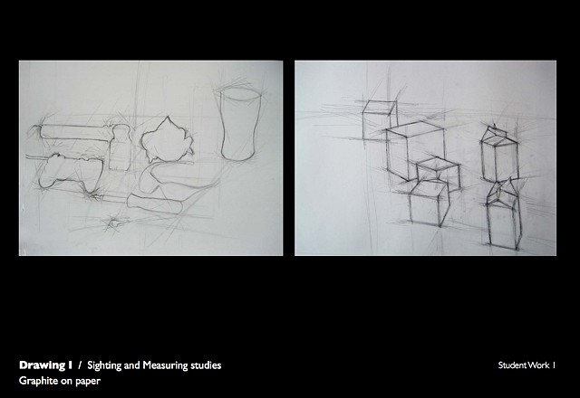 Drawing 1- Sighting and measuring study