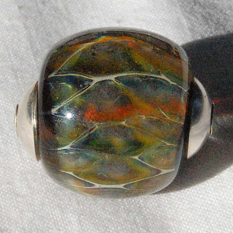 Sterling capped focal bead