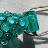 Green Amphora Bead on Pendant Fitting