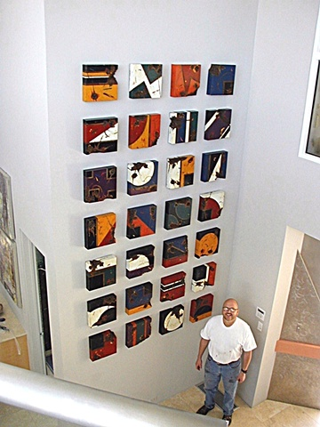 A wall of one foot square installation