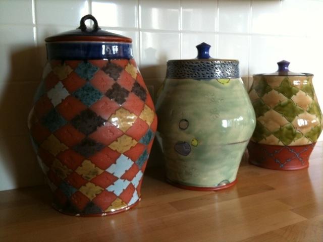 jars, thrown earthenware