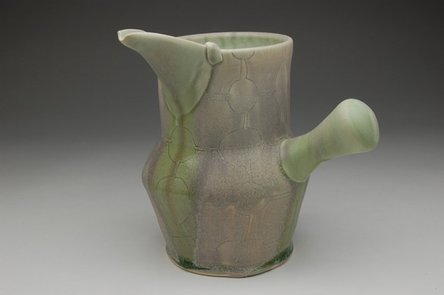 jug side handle pink sugar glaze