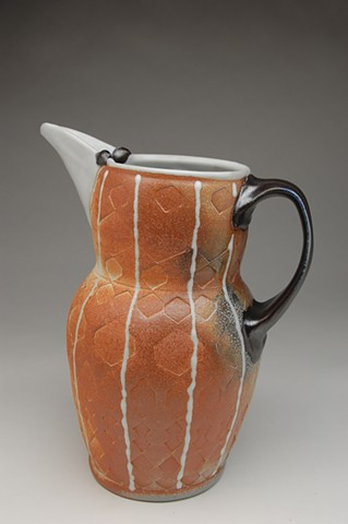 Large soda-fired pitcher