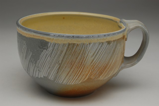 Soda-fired latte cup