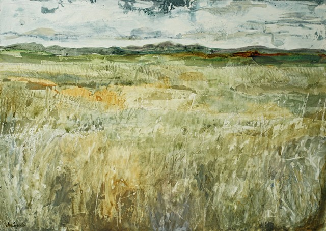 Prairie II by Jim Carpenter, Acrylic on Crescent Board