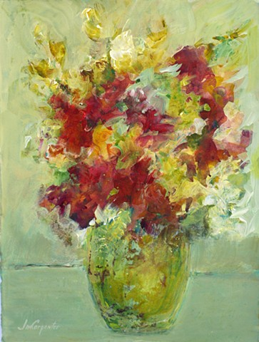Floral painting by Jim Carpenter, Acrylic painting, Flowers