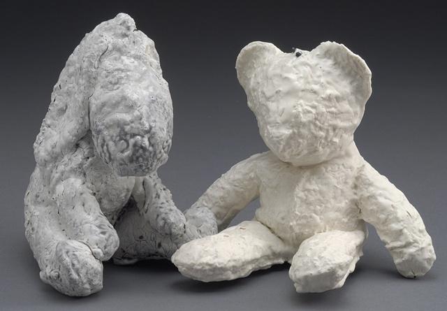 hand sewn bear and vintage eeyore stuffed animal